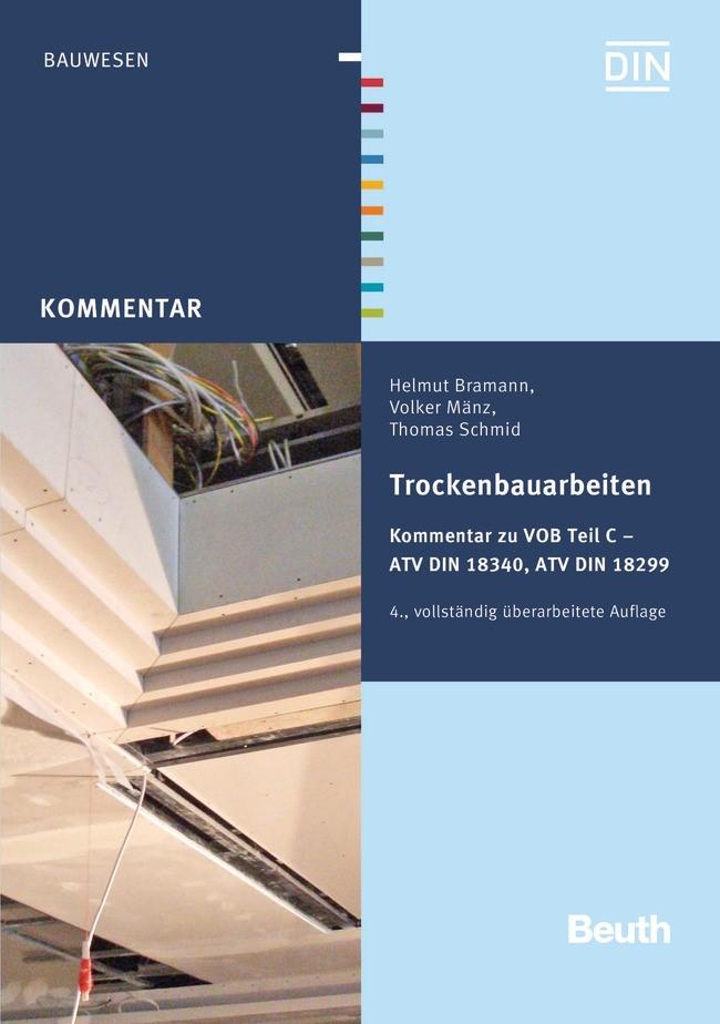 Trockenbauarbeiten | Bramann / Mänz / Schmid | 4., vollständig überarbeitete Auflage, 2016 | Buch (Cover)