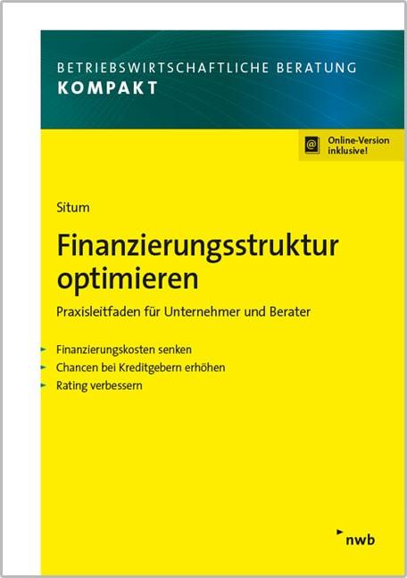 Finanzierungsstruktur optimieren | Situm, 2016 (Cover)