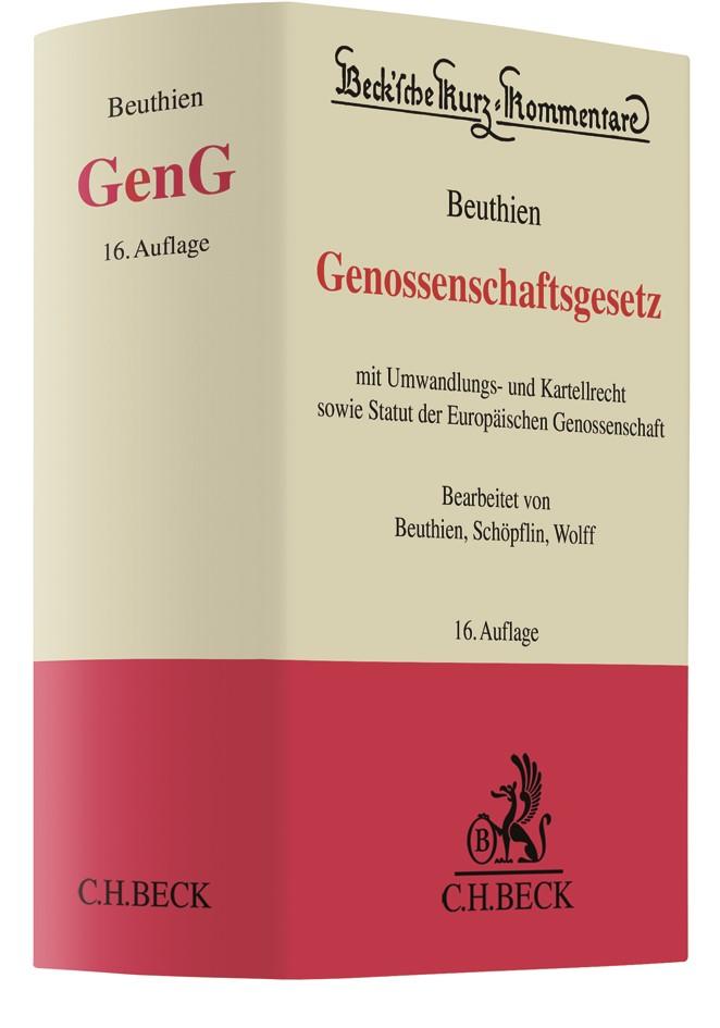 Genossenschaftsgesetz: GenG | Beuthien | 16. Auflage, 2018 | Buch (Cover)