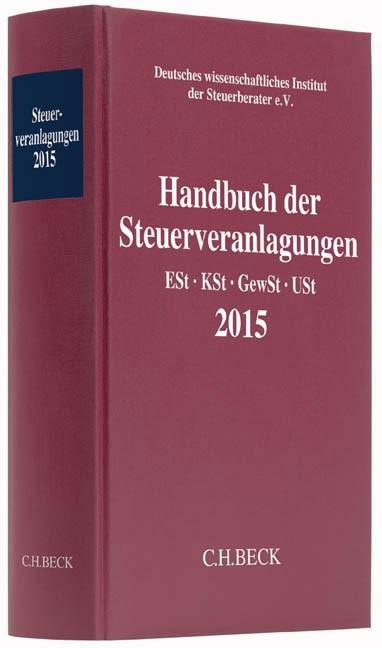Handbuch der Steuerveranlagungen 2015, 2016 | Buch (Cover)