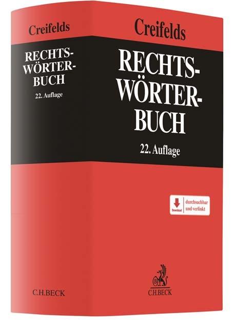 Rechtswörterbuch | Creifelds | 22., neu bearbeitete Auflage, 2016 (Cover)