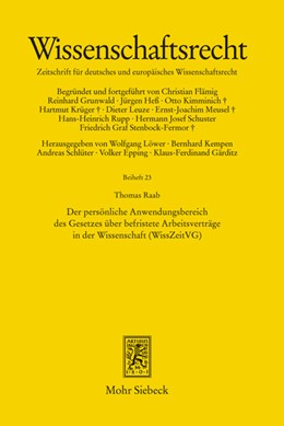 Abbildung von Raab   Wissenschaftsrecht   1. Auflage   2015   23   beck-shop.de