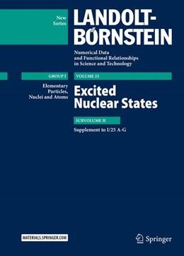 Abbildung von Schopper / Sukhoruchkin | Excited Nuclear States | 1. Auflage | 2016 | beck-shop.de