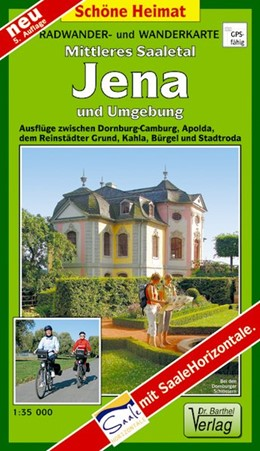 Abbildung von Mittleres Saaletal, Jena und Umgebung 1:35 000   5. Auflage, Laufzeit bis 2022   2015   Radwander- und Wanderkarte. Au...