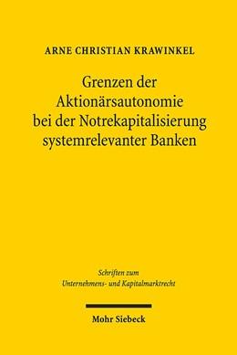 Abbildung von Krawinkel | Grenzen der Aktionärsautonomie bei der Notrekapitalisierung systemrelevanter Banken | 2015 | Ein Plädoyer für die Wiederein... | 22