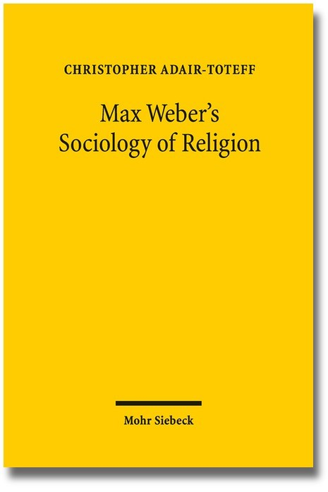 Max Weber's Sociology of Religion | Adair-Toteff, 2016 | Buch (Cover)