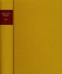 Nicodemus Frischlin: Sämtliche Werke / Band III,1: Priscianus vapulans (Der geschlagene Priscian); Iulius redivivus (Julius Caesars Rückkehr ins Erdenleben) | Jungck / Frischlin / Mundt, 2003 | Buch (Cover)