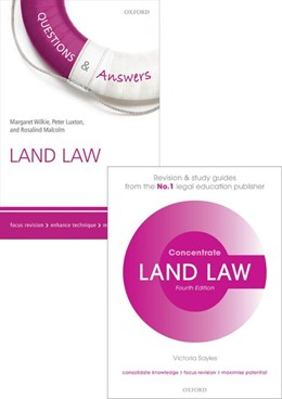 Abbildung von Sayles / Wilkie / Malcolm | Land Law Revision Pack 2015 | 2015 | Law revision and study guide
