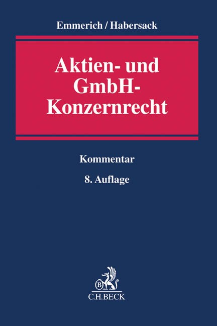 Aktien- und GmbH-Konzernrecht | Emmerich / Habersack | 8. Auflage, 2016 | Buch (Cover)