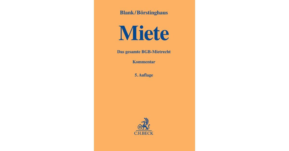 Miete   Blank / Börstinghaus   5., völlig neubearbeitete Auflage ...