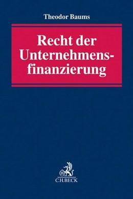Abbildung von Baums   Recht der Unternehmensfinanzierung   2017