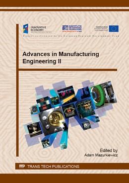 Abbildung von Mazurkiewicz | Advances in Manufacturing Engineering II | 2015 | Special topic volume