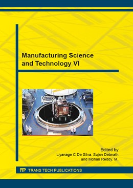 Abbildung von De Silva | Manufacturing Science and Technology VI | 1. Auflage | 2015 | beck-shop.de