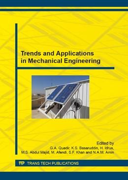 Abbildung von Quadir / Basaruddin | Trends and Applications in Mechanical Engineering | 1. Auflage | 2015 | Volume 786 | beck-shop.de