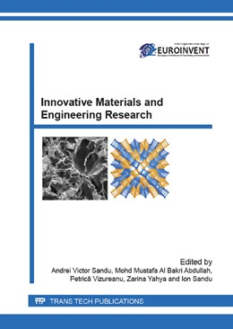 Abbildung von Sandu / Abdullah / Vizureanu / Yahya | Innovative Materials and Engineering Research | 2015 | Selected, peer reviewed papers... | Volume 660