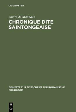 Abbildung von Mandach | Chronique dite Saintongeaise | Reprint 2014 | 2015 | Texte franco-occitan inédit