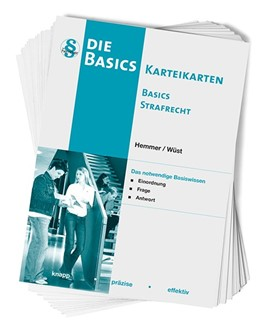 Abbildung von Hemmer / Wüst   Karteikarten Basics Strafrecht   4. Auflage   2015   beck-shop.de