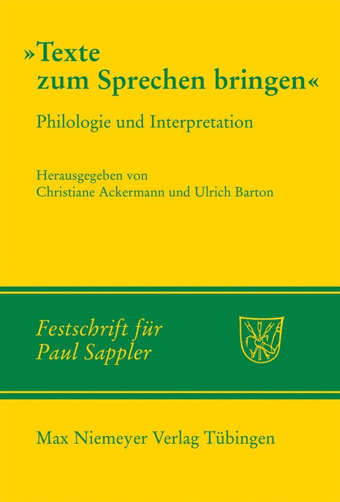 Texte zum Sprechen bringen | Ackermann / Barton, 2009 | Buch (Cover)