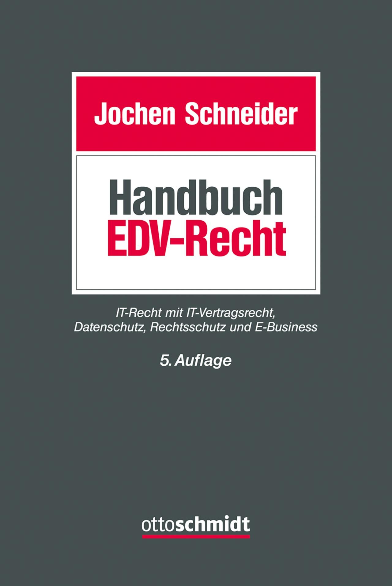 Handbuch EDV-Recht   Schneider   Buch (Cover)