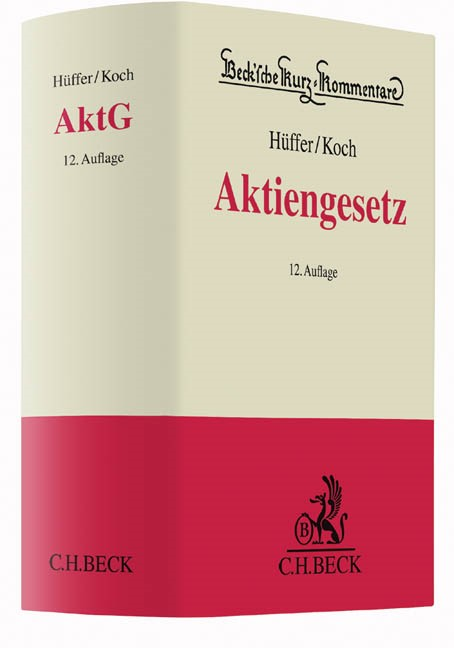Aktiengesetz: AktG   Hüffer / Koch   12. Auflage, 2016   Buch (Cover)