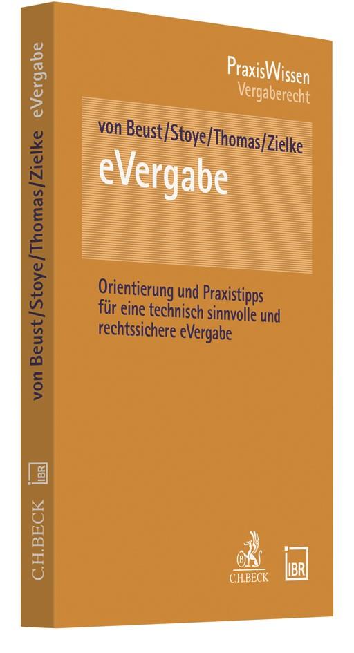 Praxishandbuch eVergabe | von Beust / Stoye / Thomas / Zielke, 2018 | Buch (Cover)