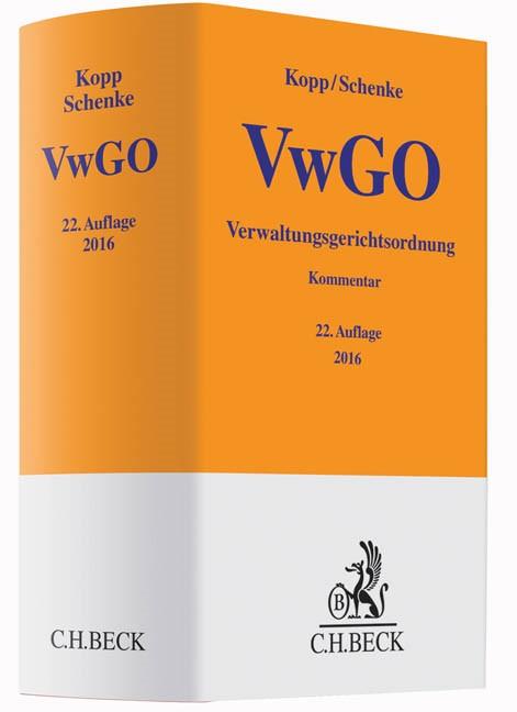 Verwaltungsgerichtsordnung: VwGO   Kopp / Schenke   Buch (Cover)