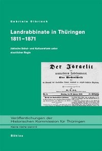 Landrabbinate in Thüringen 1811-1871 | Olbrisch, 2003 | Buch (Cover)