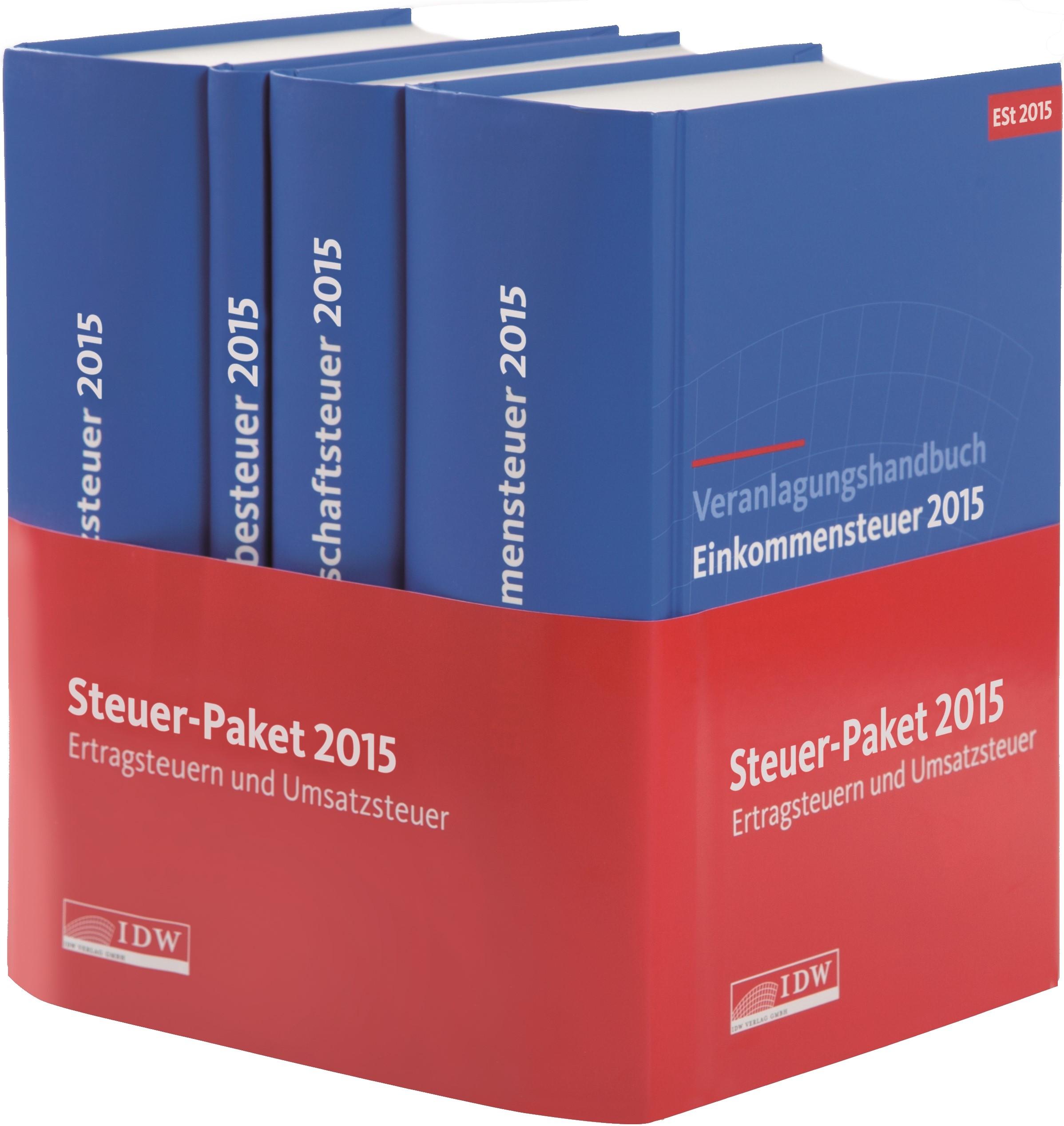 Steuer-Paket 2015: Ertragsteuern und Umsatzsteuer | IDW | 11. Auflage, 2016 (Cover)