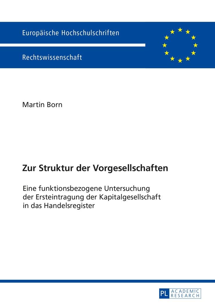 Zur Struktur der Vorgesellschaften | Born, 2015 | Buch (Cover)