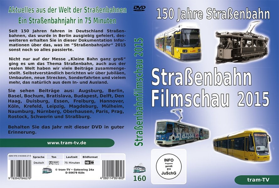 150 Jahre Straßenbahn, 2015 (Cover)