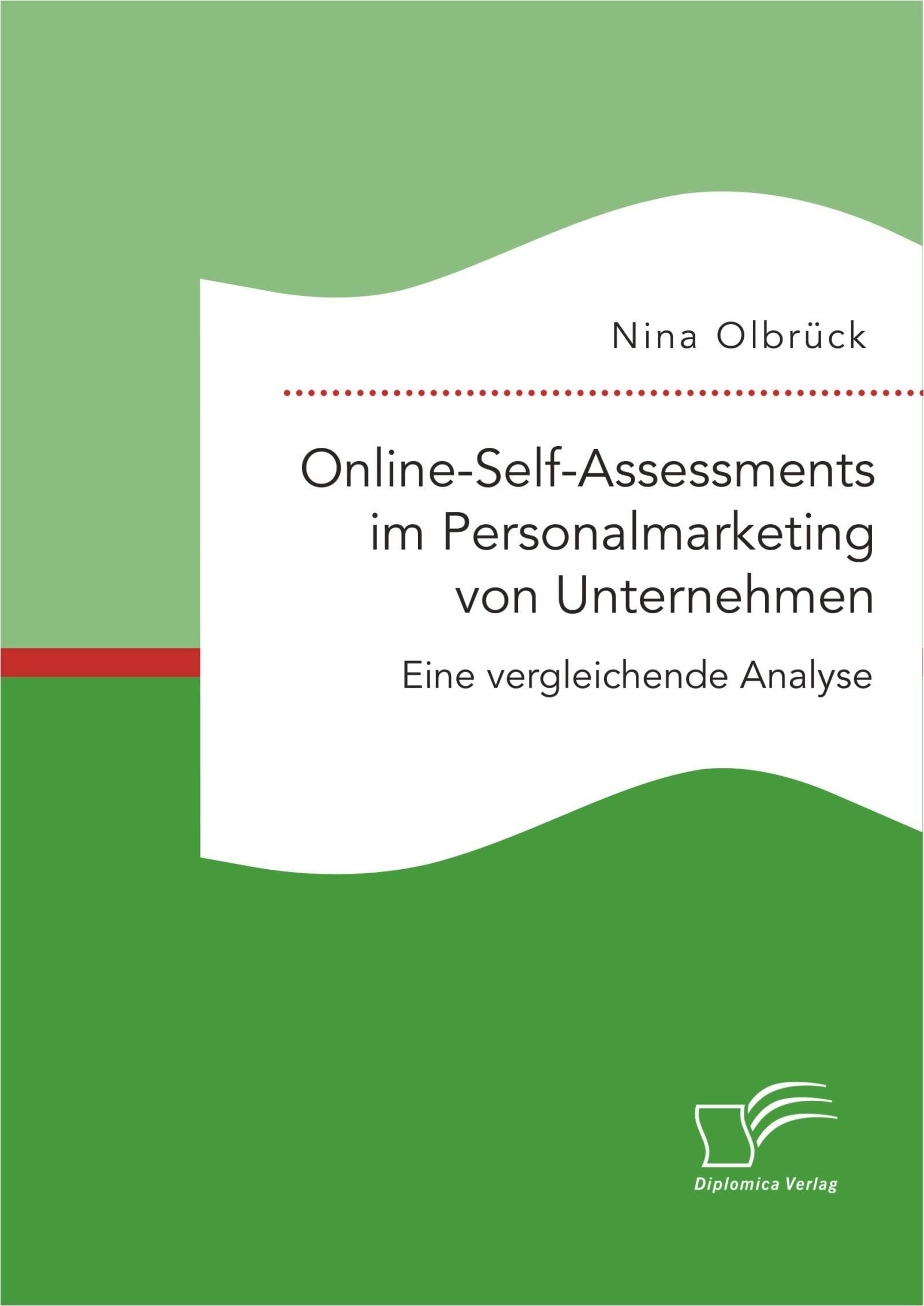 Online-Self-Assessments im Personalmarketing von Unternehmen: Eine vergleichende Analyse | Olbrück | Erstauflage, 2015 | Buch (Cover)