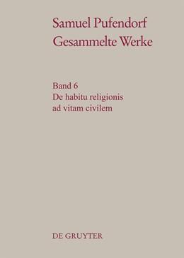 Abbildung von Schmidt-Biggemann | De habitu religionis ad vitam civilem | 2016