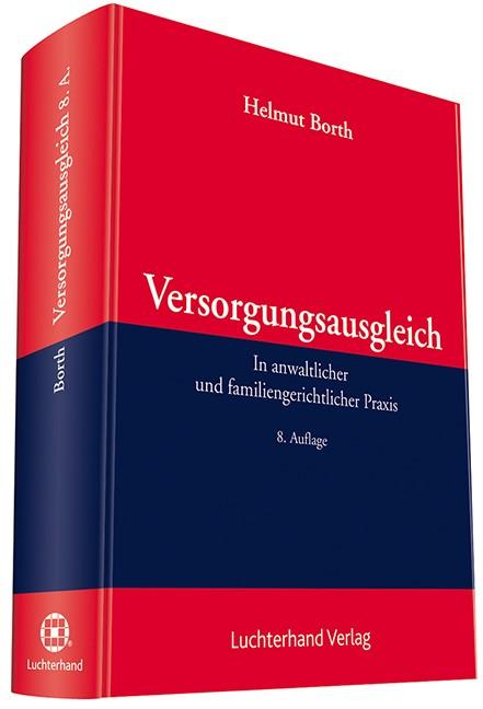 Versorgungsausgleich | Borth | 8. Auflage, 2017 | Buch (Cover)