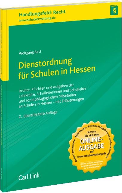 Dienstordnung für Schulen in Hessen | Bott | 2., überarbeitete Auflage, 2015 | Buch (Cover)