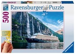 Abbildung von Mein Schiff 4 im Fjord. Puzzle 500 Teile | 2016