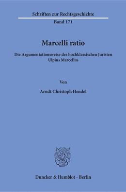 Abbildung von Hendel | Marcelli ratio | 1. Auflage | 2015 | 171 | beck-shop.de