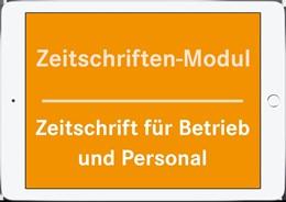 Abbildung von Zeitschriften-Modul B+P | | Zeitschrift für Betrieb und Pe...