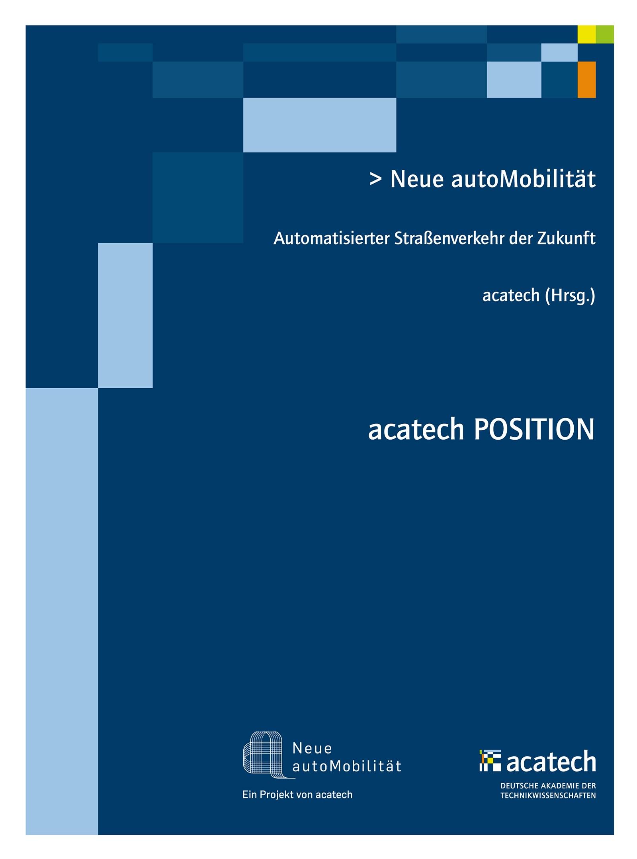 Neue autoMobilität | acatech, 2015 | Buch (Cover)