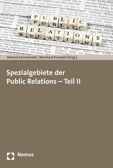 Spezialgebiete der Public Relations - Teil II | Kammerzelt / Krumpel, 2015 | Buch (Cover)