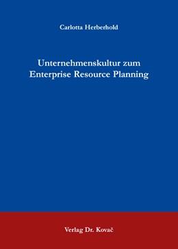 Abbildung von Herberhold   Unternehmenskultur zum Enterprise Resource Planning   1. Auflage   2016   94   beck-shop.de