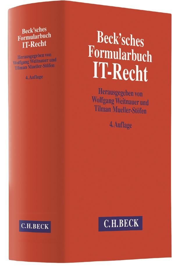 Beck'sches Formularbuch IT-Recht | Buch (Cover)