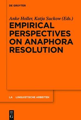 Abbildung von Holler / Suckow | Empirical Perspectives on Anaphora Resolution | 2016 | 563