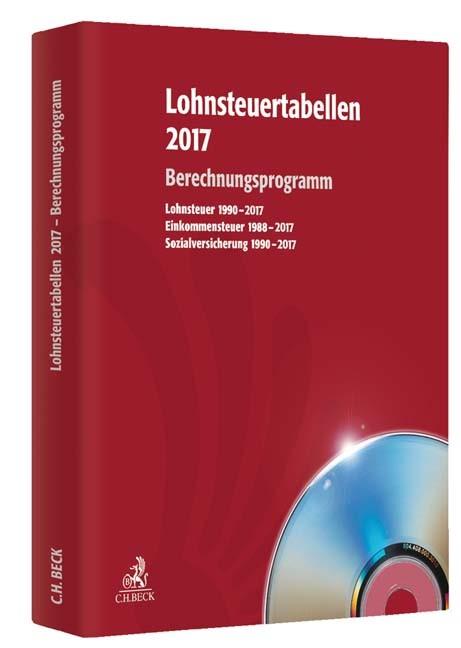 Lohnsteuertabellen 2017 • CD-ROM, 2017 (Cover)
