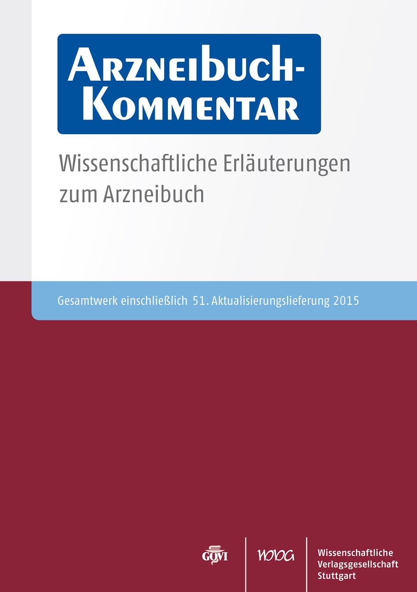 Arzneibuch-Kommentar CD-ROM VOL 51 | Bracher / Heisig / Langguth / Mutschler / Rücker / Schirmeister / Scriba / Stahl-Biskup / Troschütz, 2015 (Cover)