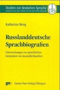 Abbildung von Meng   Russlanddeutsche Sprachbiographien   2001