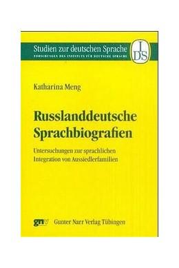 Abbildung von Meng | Russlanddeutsche Sprachbiographien | 2001 | Untersuchung zur sprachlichen ... | 21