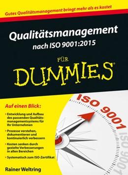 Abbildung von Weltring   Qualitätsmanagement nach ISO 9001:2015 für Dummies   1. Auflage   2016   beck-shop.de