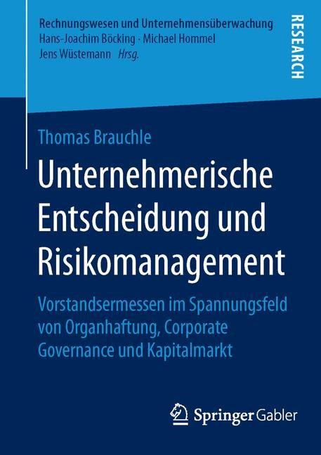 Unternehmerische Entscheidung und Risikomanagement | Brauchle, 2015 | Buch (Cover)