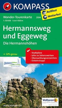 Abbildung von Hermannsweg und Eggeweg, Die Hermannshöhen 1 : 50 000 | 2. Auflage, Laufzeit bis 2020 | 2015 | Wander-Tourenkarte. GPS-genau