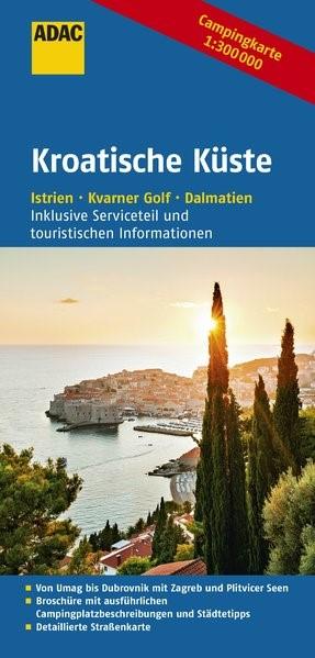 ADAC Campingkarte Kroatische Küste 1 : 300 000 | 5., überarbeitete Auflage, 2016 (Cover)